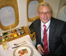Terje Grue har i en årrekke utviklet Lufthansa i det norske markedet, men nå er det Emirates han skal jobbe for. Foto: HARALD BRÅTHEN