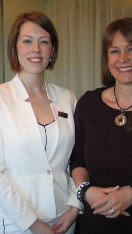 Stolte salgsrepresentanter for Scandic-hotellene – Ina Aurora Bakkevig, salgssjef på Scandic Helsfyr og Siv Christensen, salgsdirektør i Scandic Norge.