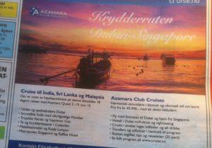 Reiseannonsen fra Cruise.no inviterer til et Asia-cruise som kan anbefales på det varmeste om bare sparepengene strekker til.