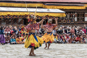 Temeplfest - tsechu - Paro Dzong i Bhutan FOTO: Freddy Hafskjold