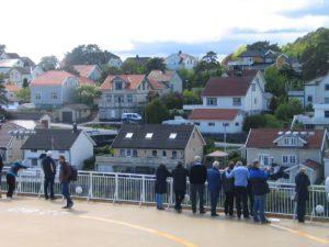 Avgang fra idyllisk Langesund hver dag klokken 14.30 til Hirtshals og videre til Stavanger og Bergen Foto:Harald Bråthen