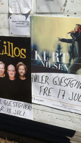 Kurt Nilsen og deLillos på plakaten  - Foto: Harald Bråthen