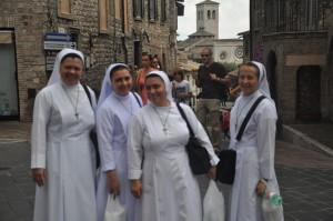 Nonner i Assisi FOTO: Elsa Grimsmo