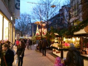 Julemarked i Mönckebergstrasse
