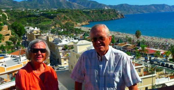 Inger Lise og Terje Wiig stortrives i Nerja, og er her for 4. året på rad
