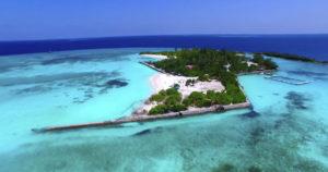 Dronebilde Maldivene Foto: Emirates
