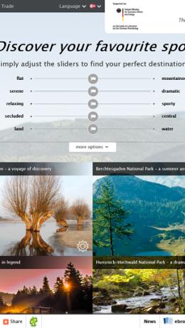 Finn ditt favorittsted  - nettsiden til Tyske Turistkontor
