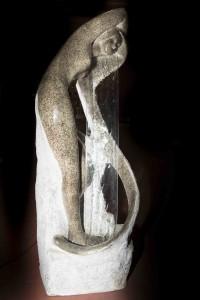 Prototype for vann-fontene i plastikk. Laget av arkitekten Mario Brambilla, Milano Water-loop, Art Deco. Fra 1940. 600 Euro.