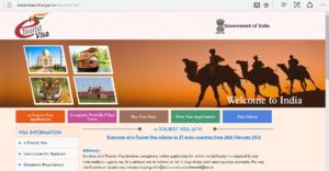 Foto: Indias Offisielle websider for visumsøknader