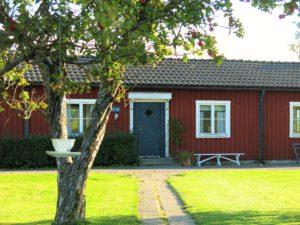 RØD STUE:Ulfsby herrgård med sine koselige hus.