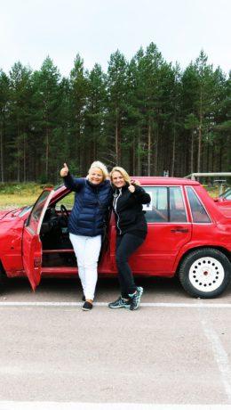 RALLY:Litt kult å få pokal i rallykjøring!Pernilla Solberg og meg.