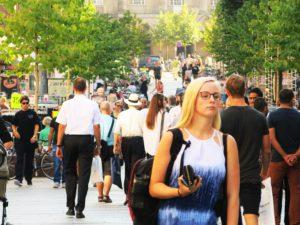 SHOPPING:Aarhus er populær året rundt av handleglade folk.