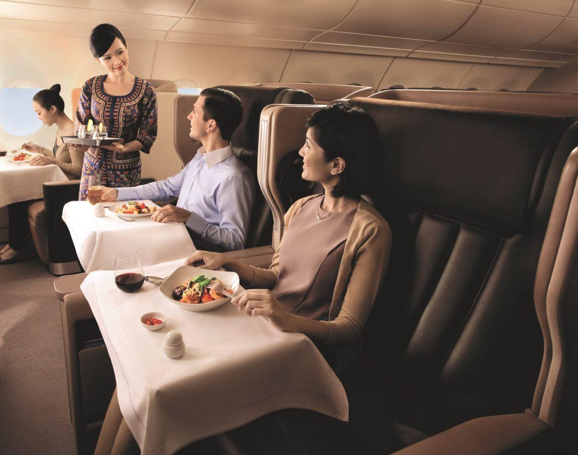 FLYING HIGH:Slik kan man også ha det ombord i Singapore Airlines.