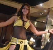 MAGEDANS:Assma står for underholdningen da skipet ankommer Luxor