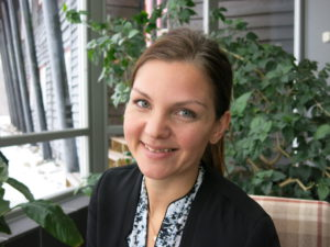 SJEFEN:Unge Therese Erikson från Sverige har vært daglig leder siden 2008.