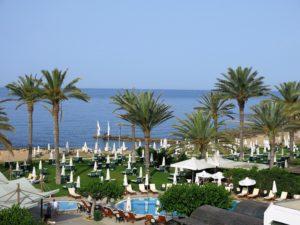 UTSIKT:Ikke noe å si på denne morgenutsikten på Athena Beach hotell.